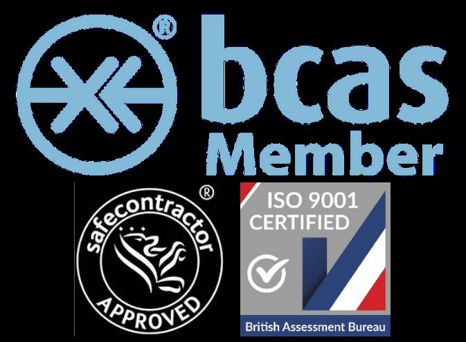 accreditations AS Pneumatics BCAS member Safe Contractor ISO9001